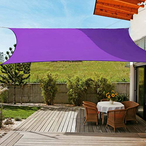 OldPAPA Sonnensegel Rechteckig Sonnenschutz Block 95% UV Wasserdicht Garten Balkon Schwimmbad Leichtgewicht Überdachung mit Freiem Seil Lila 2x3m