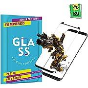 Panzerglas Schutzfolie für Samsung Galaxy S9 , Hohe Qualität 3D Displayschutzfolie [Ultra Klar] [9H Härtegrad] [Anti-Kratzen] [Anti-Fingerabdruck] Gehärtetes Glas Panzerglas Folie für Samsung Galaxy S9