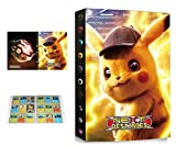 Álbum Compatible con Pokemon, Álbum Titular Compatible con Cartas Pokémon, Carpeta Álbumes Compatible con Cartas Pokemon, 24 Páginas con capacidad para 432 cartas (432-ZT-PIKACHU)