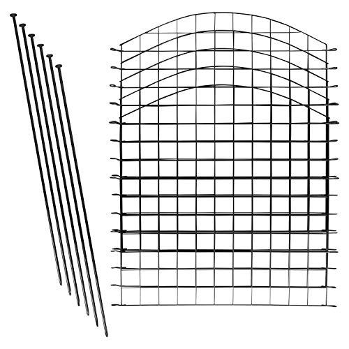 1PLUS Teichzaun Set/Komplett-Set in verschiedenen Verpackungseinheiten und Formen - Sparset mit Oberbogen oder Unterbogen (5X Oberbogen, Anthrazit)
