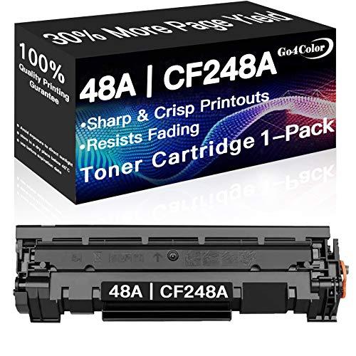 Go4Color Compatible 48A CF248A Toner Cartridges for Used in HP Laserjet Pro M15w M29w M30w M31w MFP M28w M28a M29a M15a M16a M16w Printer Toner (Black)