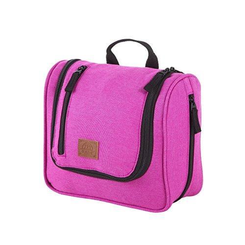 Rada Kulturbeutel KB/3 für Herren und Damen, praktisches Beauty Case für den Urlaub, innen abwischbare Kosmetiktasche für Pflege- und Kosmetikprodukte jeder Größe (pink)