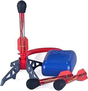 Leksak rocket-launchers for barn – 3 svampar rockar och robusta launchers med fot launch pad – kul utomhus leksak för barn...