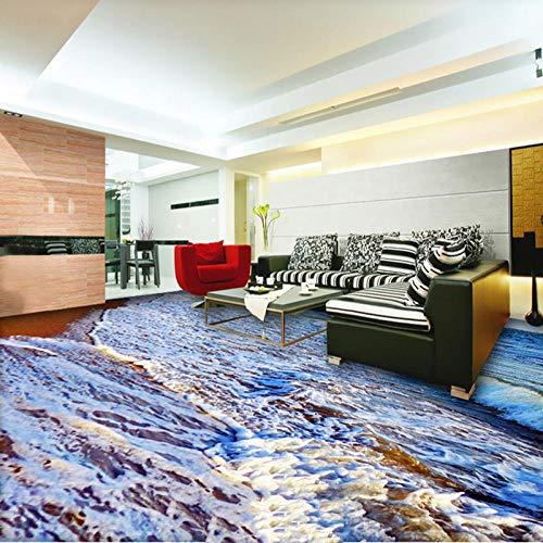 Playa foto mural papel de pared sala de estar baño PVC impermeable autoadhesivo 3D baldosas papel tapiz pegatinas-200 * 140 cm