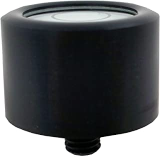J.W. Winco GN2279 Aluminum Bull's-Eye Level for Surface Mounting with Threaded Stud, 20mm/6mm (2279-ALS-20-K-30-B)