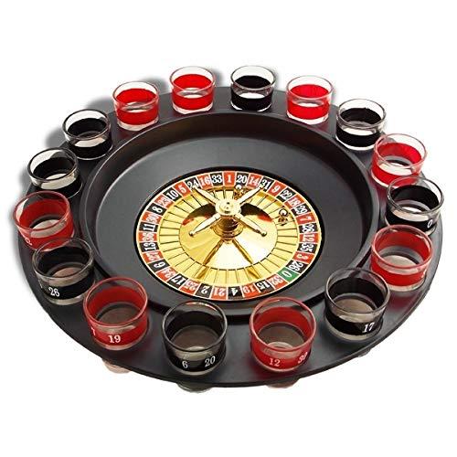 Eurowebb Roulette à boire pour jeu et boisson avec 16 verres shooter