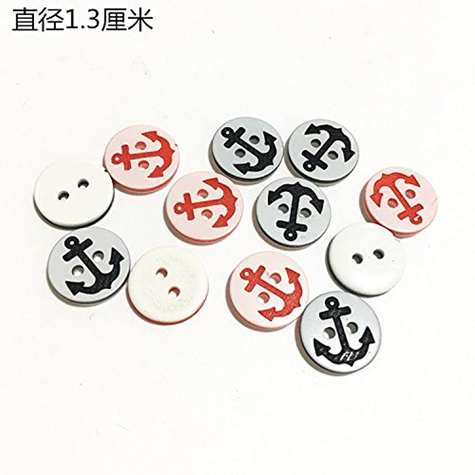 Children's plastic cartoon sea anchor round buttons DIY color beautiful baby sweater buttons buttons diameter 1.3 for Sewing Crafts Handmade Clothes DIY