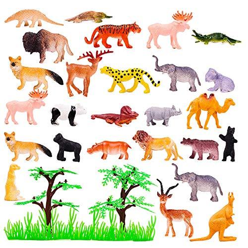100 Mini Animales Juguete Selva Salvajes para Niños| Pequeñas Figuras Animales Zoo| Realista, Resistente y No Tóxico| Regalo Educativo para Fiesta Cumpleaños Rellenos Bolsas Fiesta Piñatas Premios.