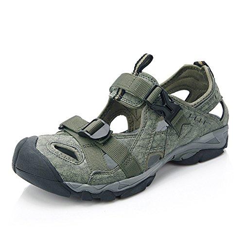 Clorts Men's Sport Sandal Lightweight Outdoor Hiking Athletic Beach Amphibious Sandal