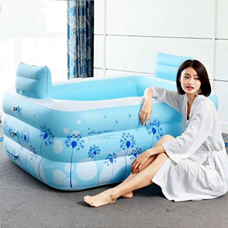 Inflatable Bath Home Adult Tub Stylish Home Bath Bathtub Bequeme faltende Badewanne Passions-Doppelpaar-aufblasbare Badewanne Blaue aufblasbare Badewanne, entlasten Ermüdung