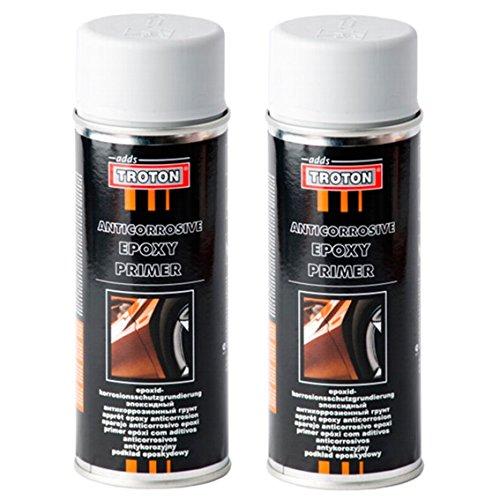 Troton 2 x 400ml Grau EPOXY Primer EPOXID KORROSIONSSCHUTZ GRUNDIERUNG Spray