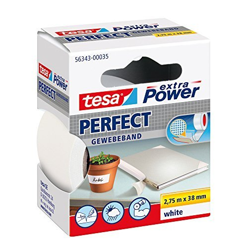 Tesa Extra Power Fabric Tape 19mm x 2.75M, 56343-00035-03 by tesa UK