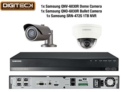 Samsung 2MP CCTV Beveiligingspakket 2 Camera Full HD 1080p IP PoE + 1TB NVR Kit