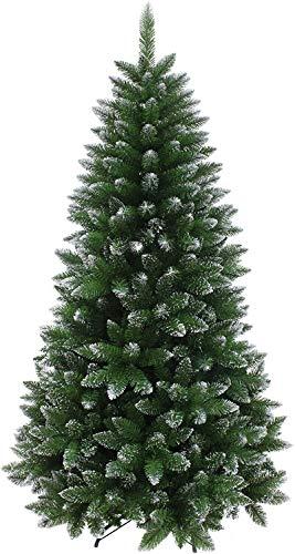 HACSYP Albero di Natale Artificiale, Decorazioni di Natale 7ft Silver Glitter capovolti Albero di Natale Artificiale Verde al Coperto (Size : 6ft)