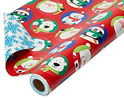 Christmas Themed Bear Presents Wrapping Paper With Bears