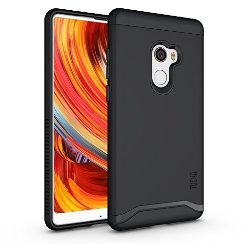 Xiaomi Mi Mix 2 Case, TUDIA Slim-Fit Heavy Duty [Merge] Extreme Protection/Rugged but Slim Dual Layer Case for Xiaomi Mi Mix 2 (Matte Black)