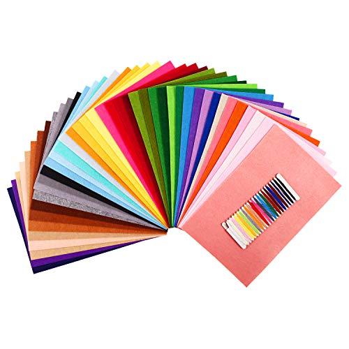 SOLEDI 41 Farben Filzstoff Filztuch Geeignet für Nähen, 20 * 30cm Felt Fabric Filzplatten zum DIY Handwerk Nähen Projekte Patchwork