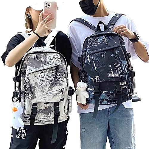 Mochila para hombre y mujer Cool Campus Student Schoolbag Moda Mochila