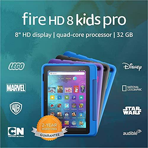 Introducing Fire HD 8 Kids Pro tablet, 8' HD, ages 6–12, 32 GB,...