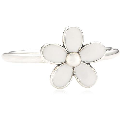 b1f5c8ceb Pandora Pearl Glass Silver Ring - Size L 190899EN12-52