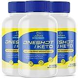 (3 Pack) Official One Shot Keto Pills Oneshot Keto 1 Shot Fat Advanced Formula Supplement As Seen on TV (180 Capsules)