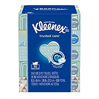 Kleenex Trusted Care Everyday Facial Tissues, Flat Box, 85 Tissues per Flat Box, 10 Packs (B00G5305JM) | Amazon price tracker / tracking, Amazon price history charts, Amazon price watches, Amazon price drop alerts
