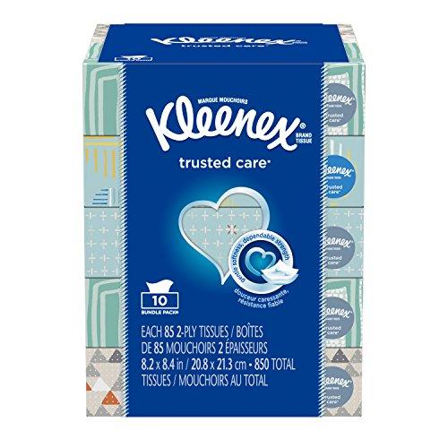 Kleenex Facial Tissue Bundle, 85 Count (Pack of 10)