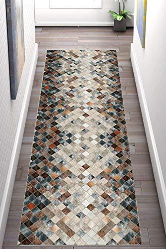 Korridor Teppich- Retro Flur Läufer Teppich, Breite 60cm / 80cm / 90cm erhältlich, rutschfest, Länge Anpassbare (Size : 0.6×6m)