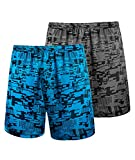 GEEK LIGHTING 2-Pack Mens Athletic Workout Running Elastic Waistband Shorts with Pockets