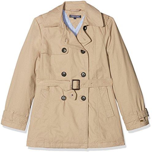 Tommy Hilfiger Mädchen THKG Trench Coat Jacke, Beige (Batique Khaki 052), 164 (Herstellergröße: 14)