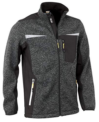 JCB Werkkleding Essington II Volledige Zip Jumper, 100% polyester, grote maat, Grijs