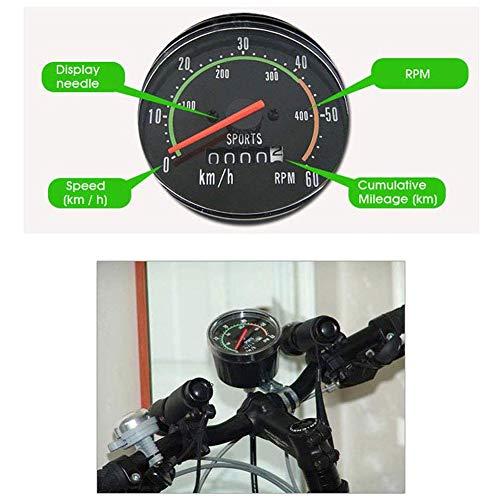 Blanchel Bicicleta Mecánica Velocímetro Digital Redondo Ciclismo Velocímetro Universal Impermeable Odómetro Cronómetro
