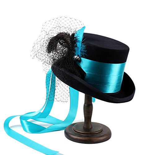 HJX Women's Fashion Wedding Hat Steampunk Gothic Victorian (Color : 1, Size : 61CM)