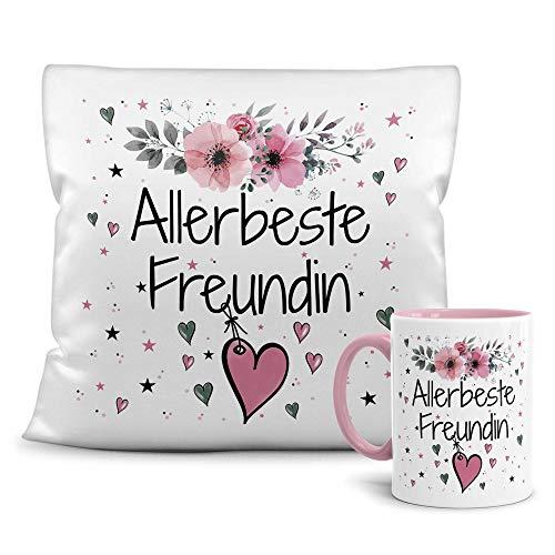 PR Print Royal Geschenk-Set aus Tasse und Kissen mit Füllung - Allerbeste...