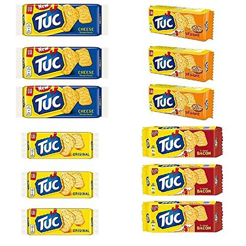 3x Testpaket TUC Salzgebäck Cracker Kekse gesalzen Snack 4x 100g