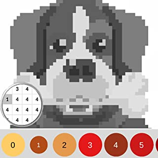 Coloring Dog by Number