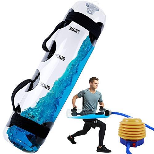 Vilypon Aqua Bag- Bolsa de arena Alternativa – Bolsa de musculación Fitness Water Bolsa de Agua de Peso, Entrenamiento portátil, Estabilidad del equipo, 55 libras con bomba de aire