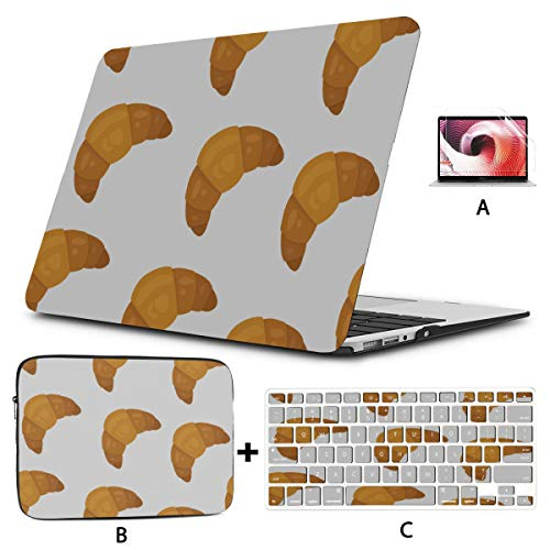 Macbookpro Case Croissants Delicious Bread Food Case Macbook Air 13 Hard Shell Mac Air 11'/13' Pro 13'/15'/16' With Notebook Sleeve Bag For Macbook 2008-2020 Version