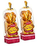 Stern's Bakery Traditional Kosher Braided Challah Rolls | Fresh & Delicious | Great for Shabbat or any Holiday | 2 13 oz Packs with 6 Challah Rolls Included Per Pack