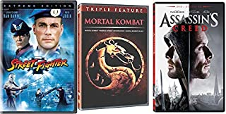 Video Games To The Big Screen: Mortal Kombat/ Mortal Kombat Annihilation & Street Fighter & Assassin's Creed 5-DVD Feature Film Bundle