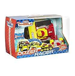 RC Dozer Racer 2-in-1 remote control car with Dozer mode and Racer mode Transforms from a super fast racer into a stunt dozer Comes with explosive speed to race friends Blast through obstacles with this vehicles big bad blade