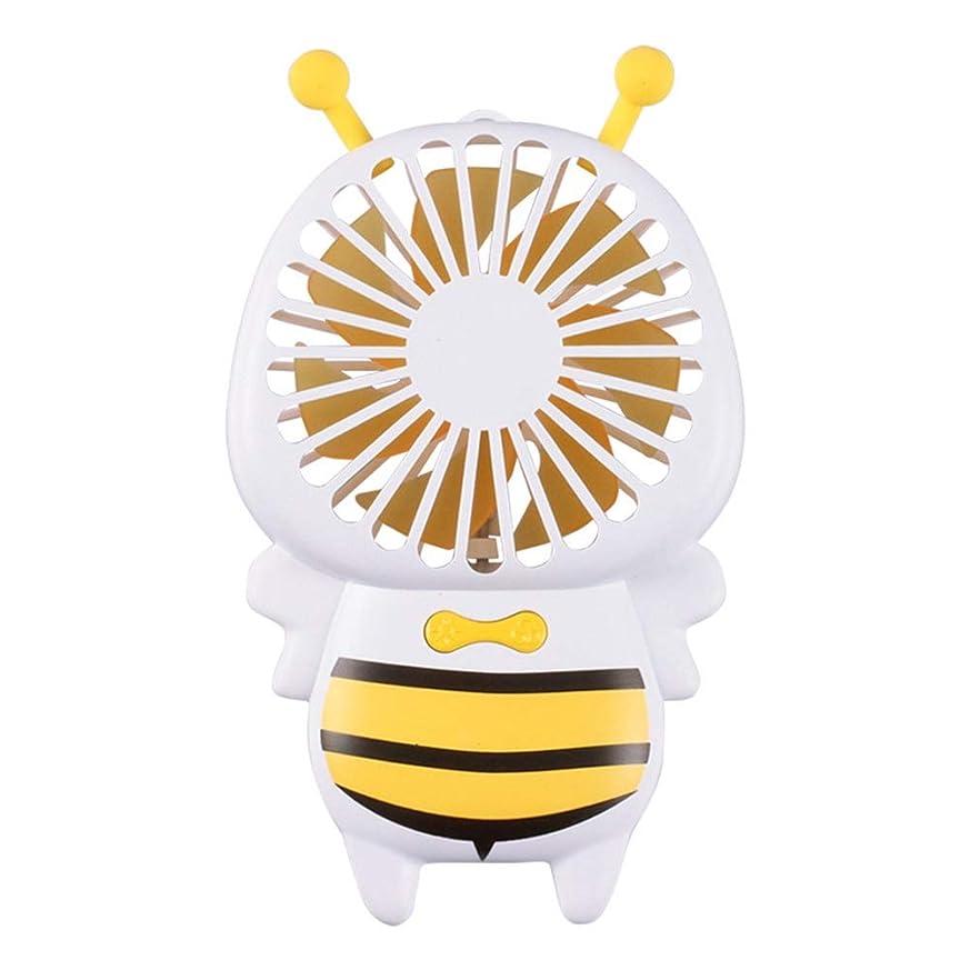 同性愛者エトナ山古代ファン小型の蜂のファン携帯用ハンドヘルド超薄型夜の光ファンミニusb小型ファン (Color : Yellow)