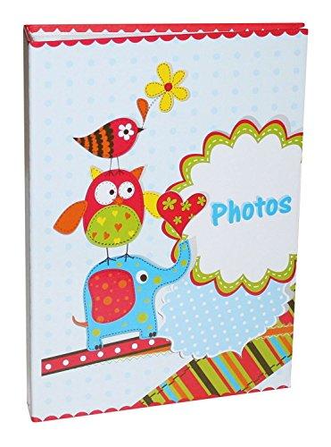 Idena 12027 - Einsteckalbum für 200 Fotos mit Memostreifen, Motiv Tierpyramide, FSC Mix, 50 Seiten, ca. 25,5 x 18,5 x 5,5 cm, zur individuellen Gestaltung