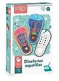 Falomir- Diseña Tus Zapatillas. Juego de Mesa Educativo para Practicar la psicomotricidad Fina. (30023)