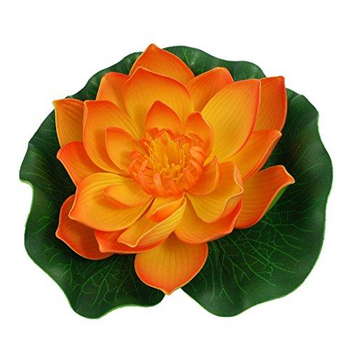 sourcingmap Aquarium Orange Vert pour Lotus Flottant Décor Ornement