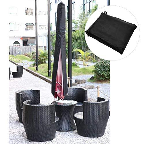Heylas beschermhoes voor paraplu, beschermhoes voor tuinparasol van 210T polyester, beschermhoes voor parasol 190 cm x 30 cm x 50 cm