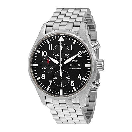 IWC Herren-Armbanduhr 43mm Armband Edelstahl + Gehäuse Automatik Zifferblatt Schwarz Chronograph IW377710