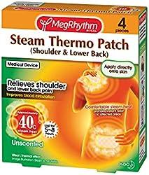 MegRhythm MegRhythm Steam Thermo Patch 4s (Shoulder & Lower Back), 4 count