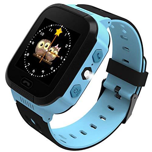 Edited Kinder Smart Watch Armbanduhr | Touchscreen, Live GPS, Telefon, Spiele, Wecker, SOS Notruf usw. | Geschenke für Mädchen Jungen Kinder (Blau 2)