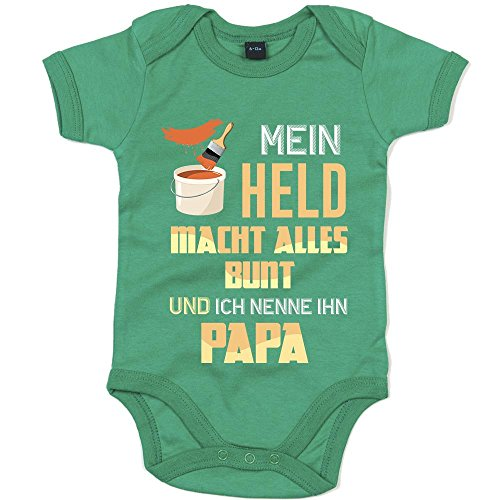 Maler Premium Babybody Berufe Follow Your Dreams Traumberuf Mädchen Kurzarmbody, Farbe:Grün (Kelly Green BZ10);Größe:6-12 Monate